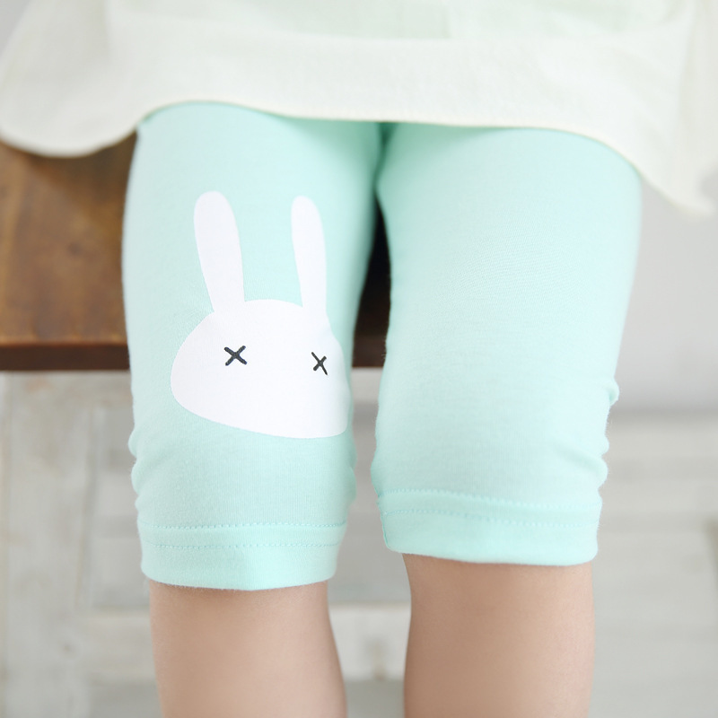 US Stock Toddler Girls Ankle Length Footless Stretching Rabbit Bunny Leggings