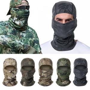 Hunting Camouflage Hood Tactical Mask Balaclava Full Face Ski Mask Army Military Tactical Sunscreen Cap Bike Cycling Mask маска(China)