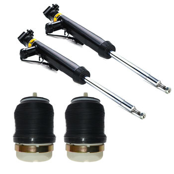AP01 2x Rear Air Suspension Shock Absorber + 2x Rear Springs FOR Audi A6 S6 4F C6 2004-11 4F0616032L 4F0616032K 4F0616032F