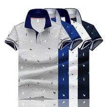 2021 verão novo estilo veados imprimir camisa polo pique algodão de alta qualidade masculina de manga curta casual respirável lapela camisa masculina