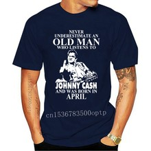 Brand Never Underestimate An Old Man Who Listens To Johny Cash And Was Born In April Men Short Sleeve T-Shirt