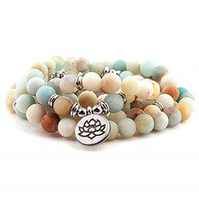 Fashion Women`s Matte 108 Beads Bracelet or Necklace High Quality Charm New Design
