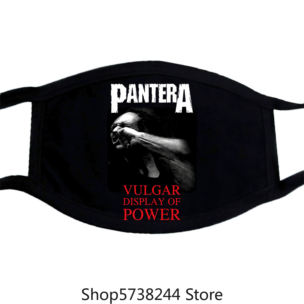Pantera Vulgar Display Of Power V3 Mask Heavy Metal Black Xs.3Xl Washable Reusable Mask With