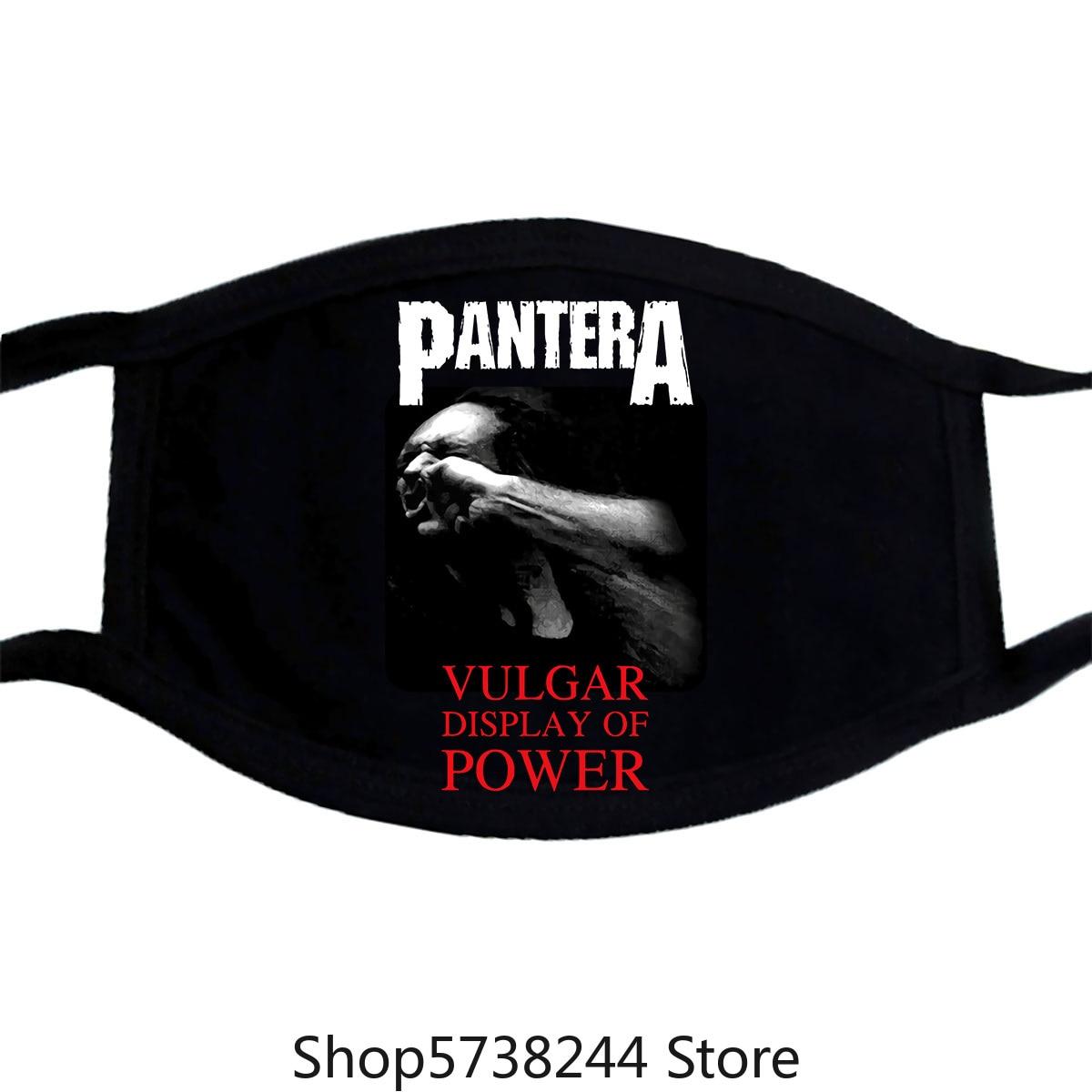 Pantera Vulgar Display Of Power V3 Mask Heavy Metal Black Xs.3Xl Washable Reusable Mask With