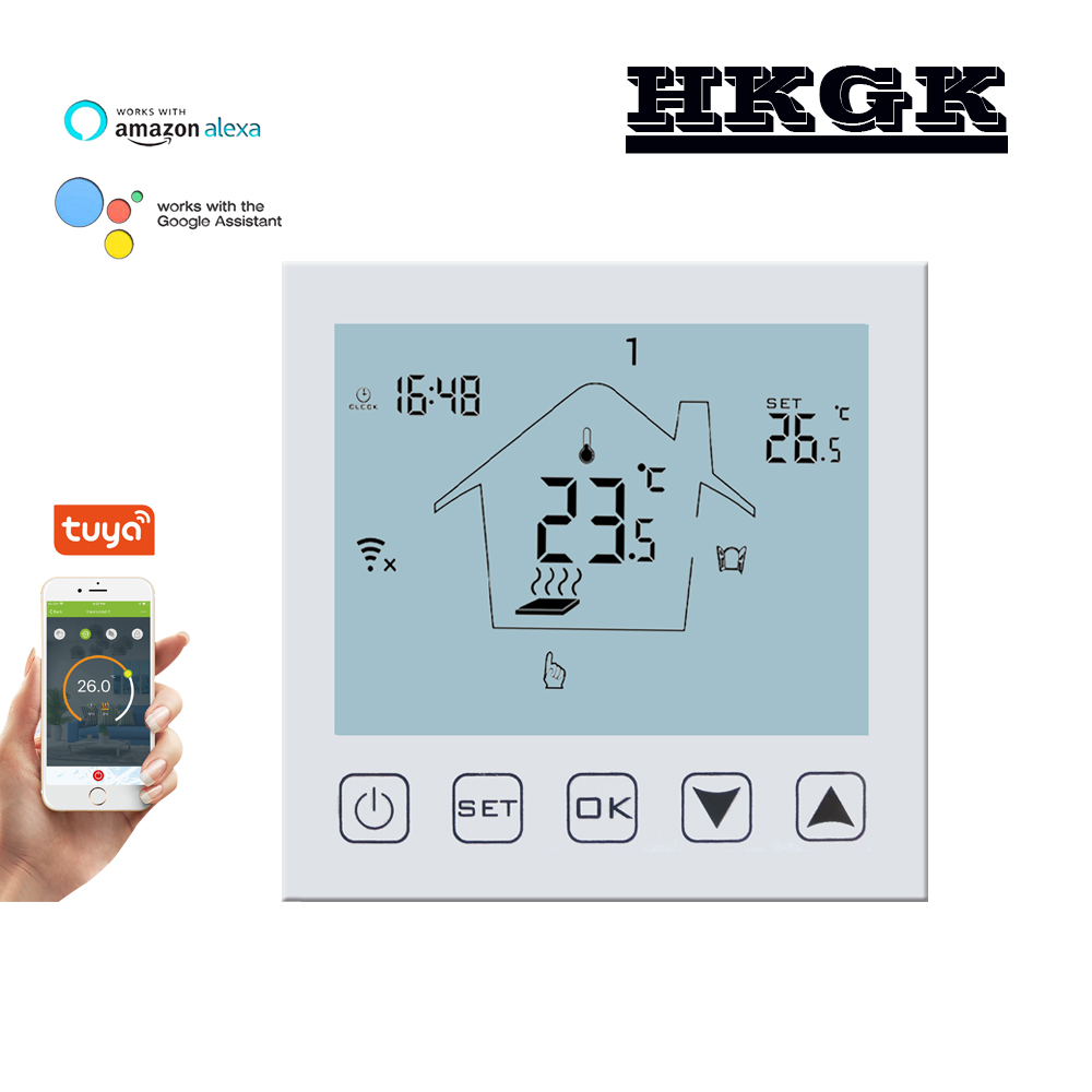 Indoor LCD With WIFI Thermostat, Can Be Used With Google Home Control, For Floor Heating System, Relay Outputs 3A/16A Optional