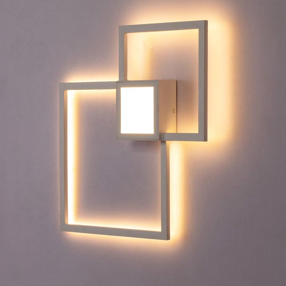 Zerouno led новый свет 20 Вт 24 Вт черный белый DIY настенный светильник для спальни гостиной Лофт художественное украшение светодиодные лампы