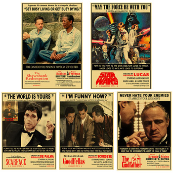 Vintage Classic Movie Scarface/Goodfellas Poster Kraft Paper Retro Movie Posters Home Decor Room Ba RArt Print Wall Stickers gringo movie poster posters