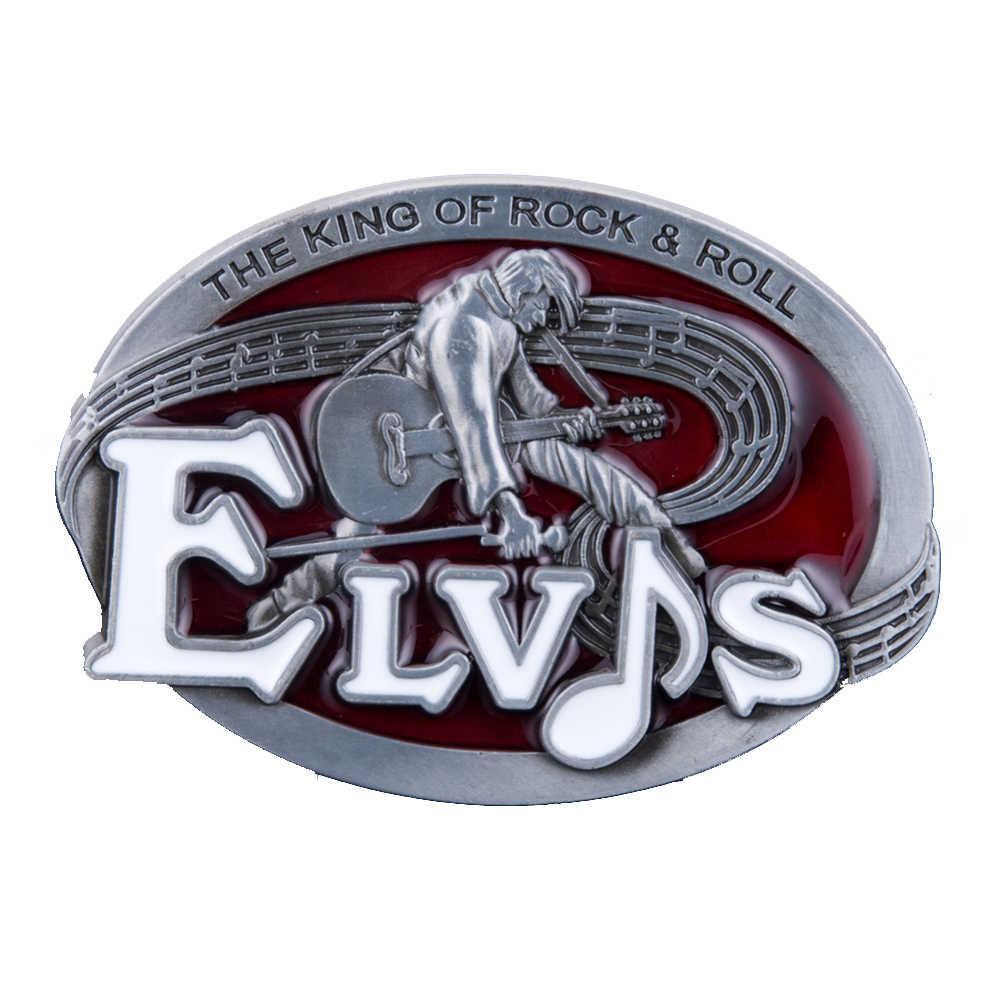 Guitars The King of Rock and Roll Elvis Men/'s Belt Buckle Suitable Wide RSR1