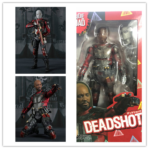 15cm New Style Movie Suicide Squad Deadshot Action Figure SHF Deadshot PVC Toys Doll For Christmas Birthday Gift