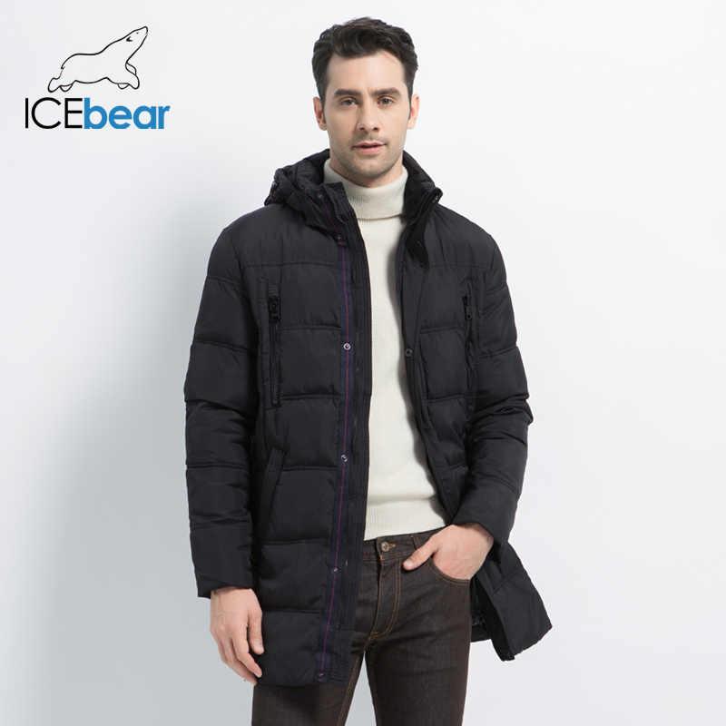 ICEbear 2019 最高品質暖かい男性の厚いミディアムロングコート暖かい冬ジャケット防風カジュアル OuterwearMen パーカー 16M899D