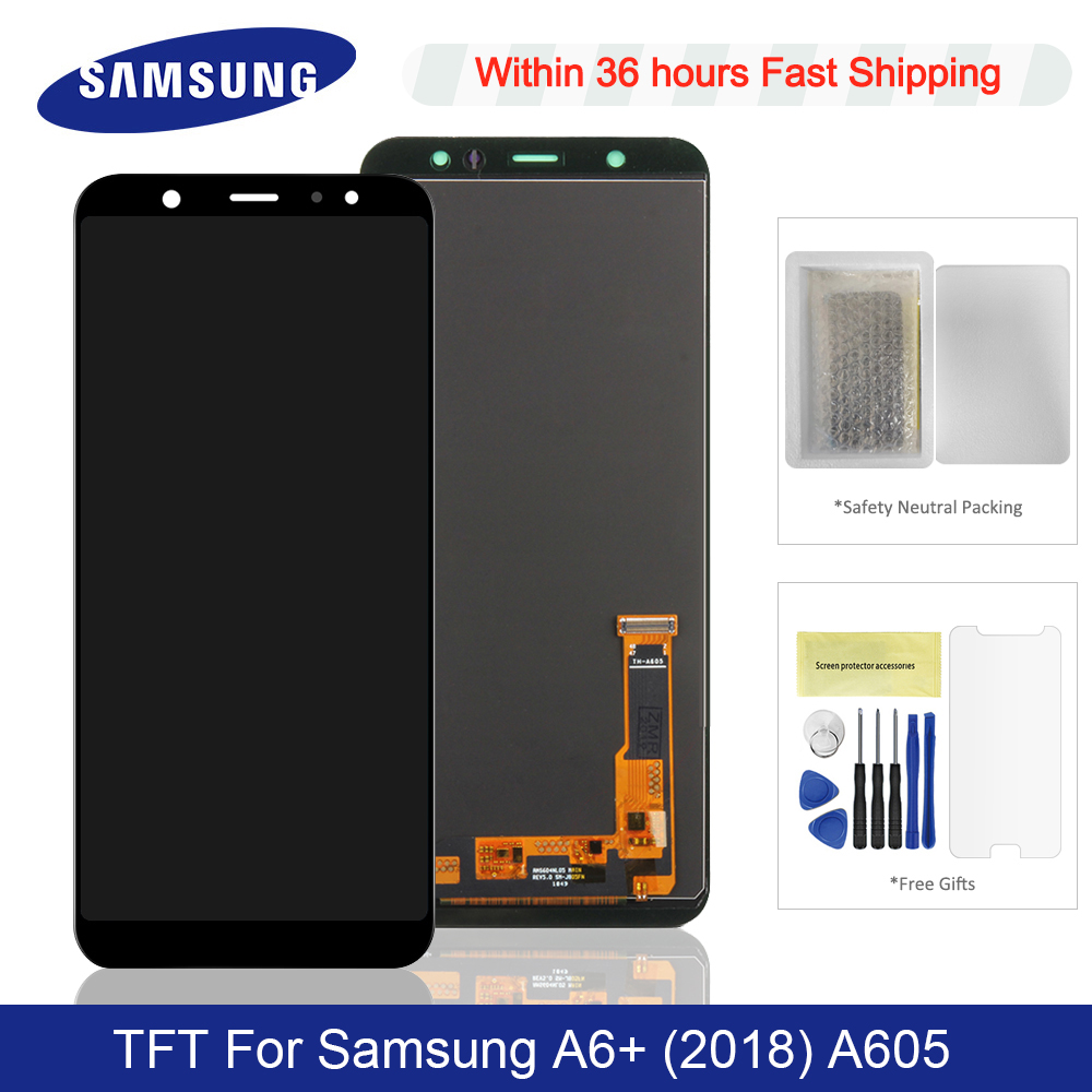 For <font><b>Samsung</b></font> <font><b>Galaxy</b></font> <font><b>A6</b></font> Plus 2018 LCD <font><b>Display</b></font> Touch Screen Digitizer Assembly Replacement For <font><b>Samsung</b></font> <font><b>A6</b></font> Plus <font><b>A6</b></font>+ A605F A605FN LCD image