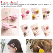 Baby Girl Hairpin Haarspeldjes Barettes Fille Enfant Hair Accessories 2Pc/Set Cute Lace Pom Clips Kids