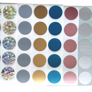 100pcs/pack Decorative Colorful Round Scratch Stickers DIY Label Sticker Cute Handmade Material Escolar Favor