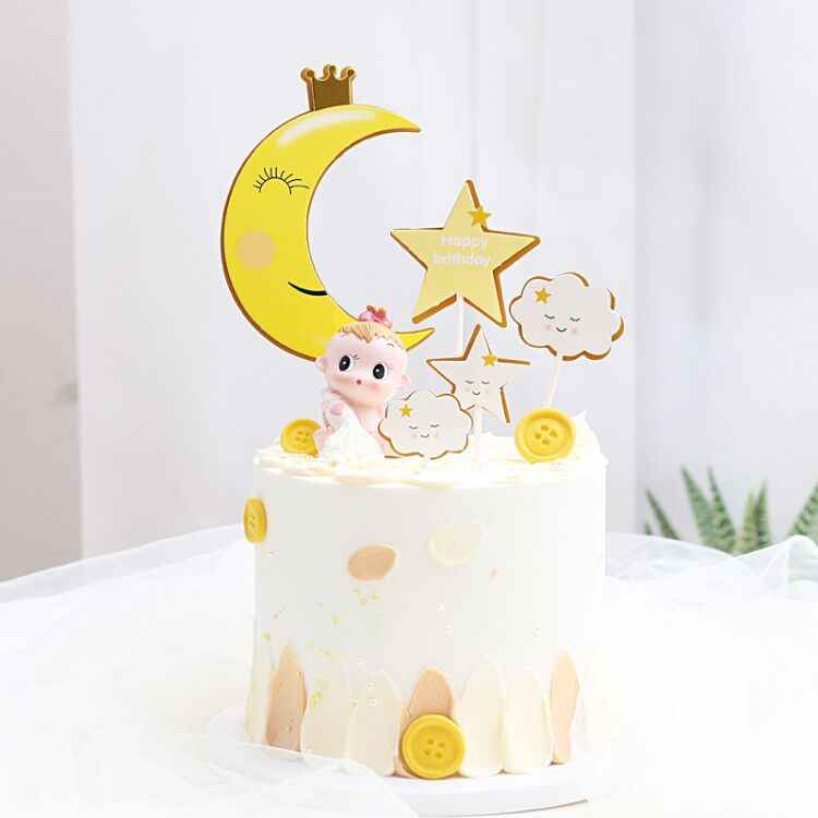 Sweet Dream King Crown Moon Star Cloud เค้กวันเกิดแฮปปี้ Topper Childs Favor PARTY Candy Bar ตกแต่งขนมหวาน