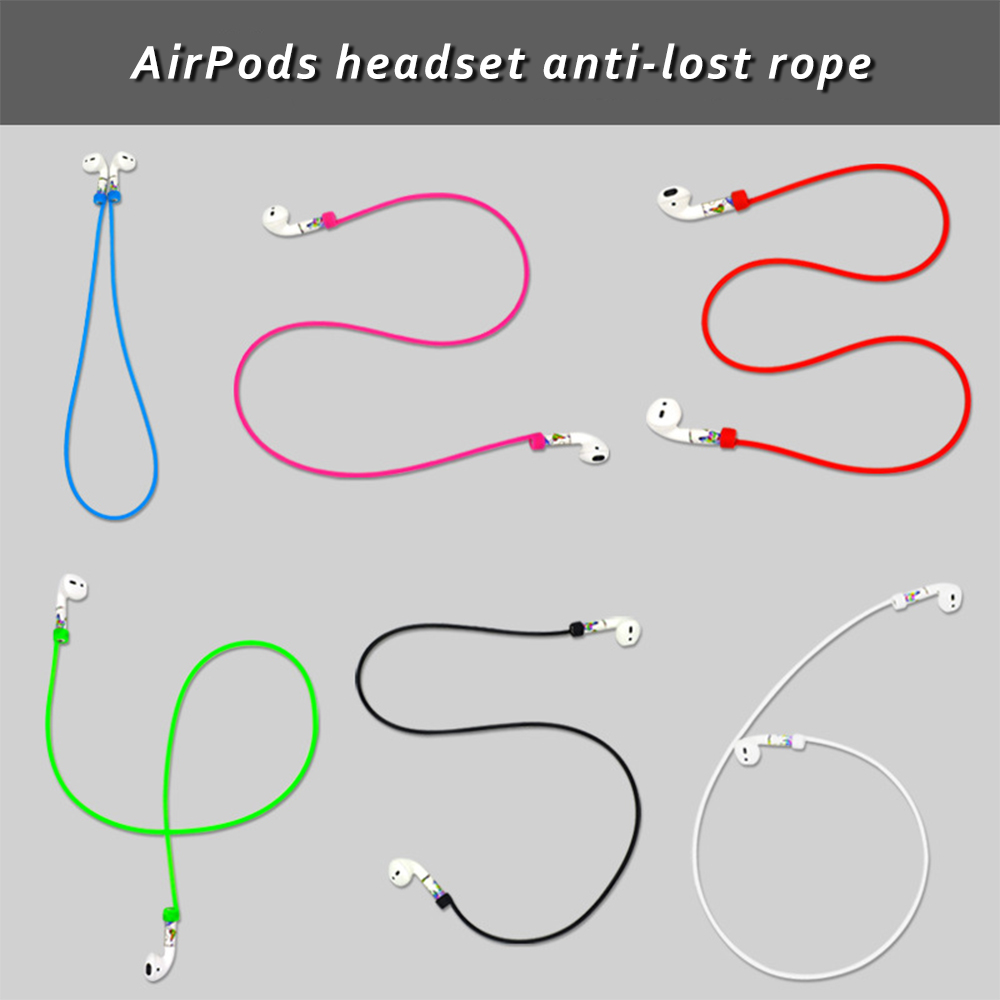 Anti-Lost Headphone String Rope Silicone Cable Cord For Apple AirPods Accessories Storage Strap Rope For AirPods Pro Ring Strap