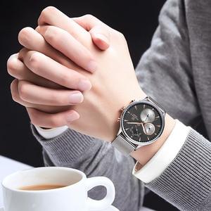 Image 5 - NAVIFORCE 男性腕時計トップブランドファッションビジネスメンズ腕時計ステンレス鋼メッシュ男性時計防水クォーツレロジオ Masculino