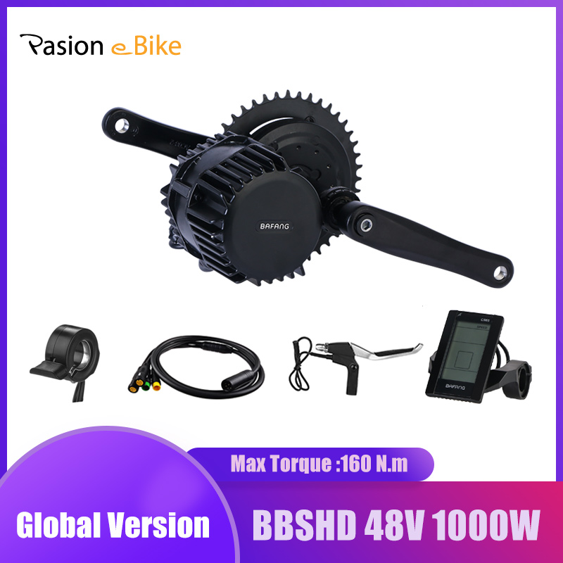 On Sale48V 1000W 8Fun Bafang BBSHD BBS03 Mid Drive Motor Kit central drive