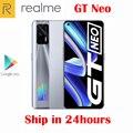 Оригинальный официальный Новое Realme GT Neo 5G смартфон MTK1200 6,43 дюймов 120 Гц Super AMOLED 64MP Камера NFC 4500 мА/ч, 50 Вт вспышка Зарядное устройство