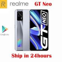 Original Offizielle Neue Realme GT Neo 5G Smartphone MTK1200 6,43 zoll 120Hz Super AMOLED 64MP Kamera NFC 4500mah 50W-Ladegerät