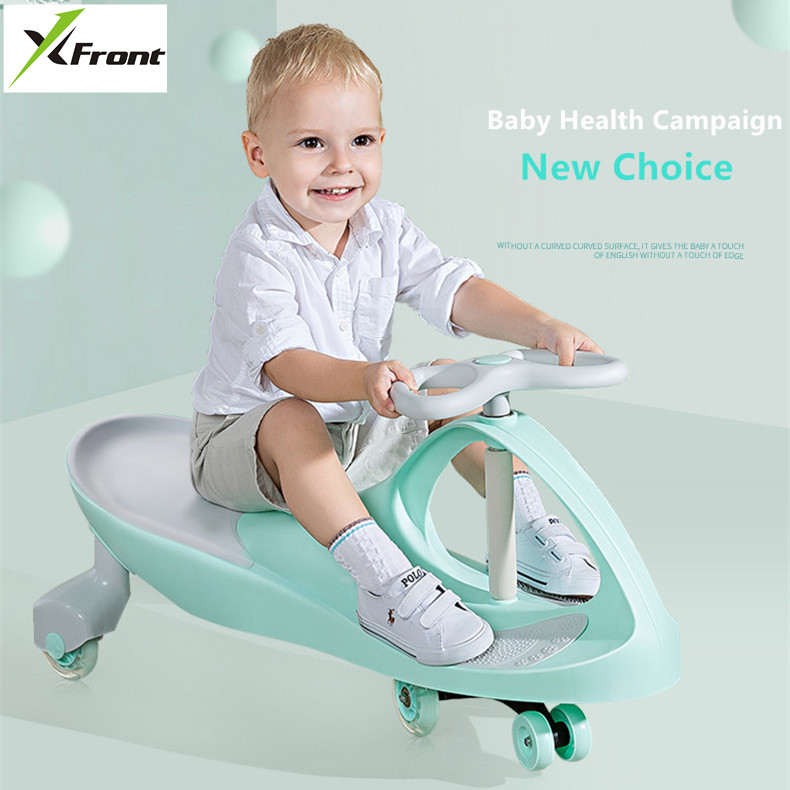 New Twist Car Child Bicycle Yoyo Balance Trolley Caster Buggy 1-3 Male And Female Baby Mute Round Swing Pedicab Vehicle