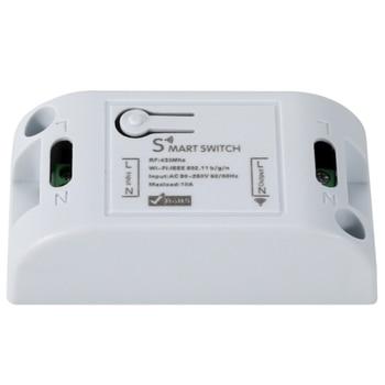 Tuya Smart Life APP WiFi + RF 43hz DIY Relay Timer Module Google Home Amazon Alexa 110V 220V 10A for Switch Light FAN недорого