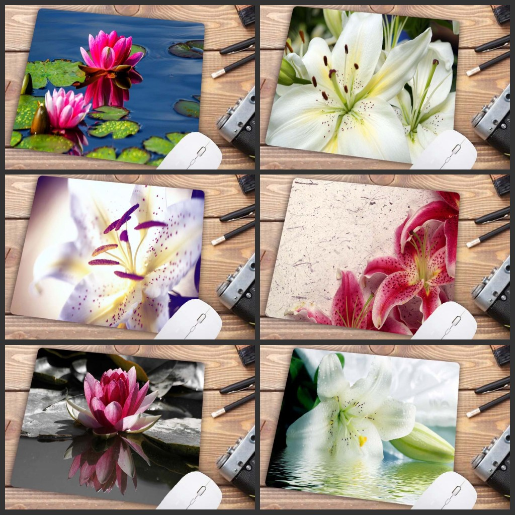 Mairuige Summer Lotus Big Mouse Pad PC Computer Pad Size Is 18x22cm Gaming Mouse Pad Big Promotion