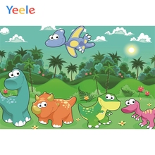 Yeele Dinosaur Backdrop Cartoon Jungle Baby Birthday Party Photocall Customized Photography Background Vinyl For Photo Studio