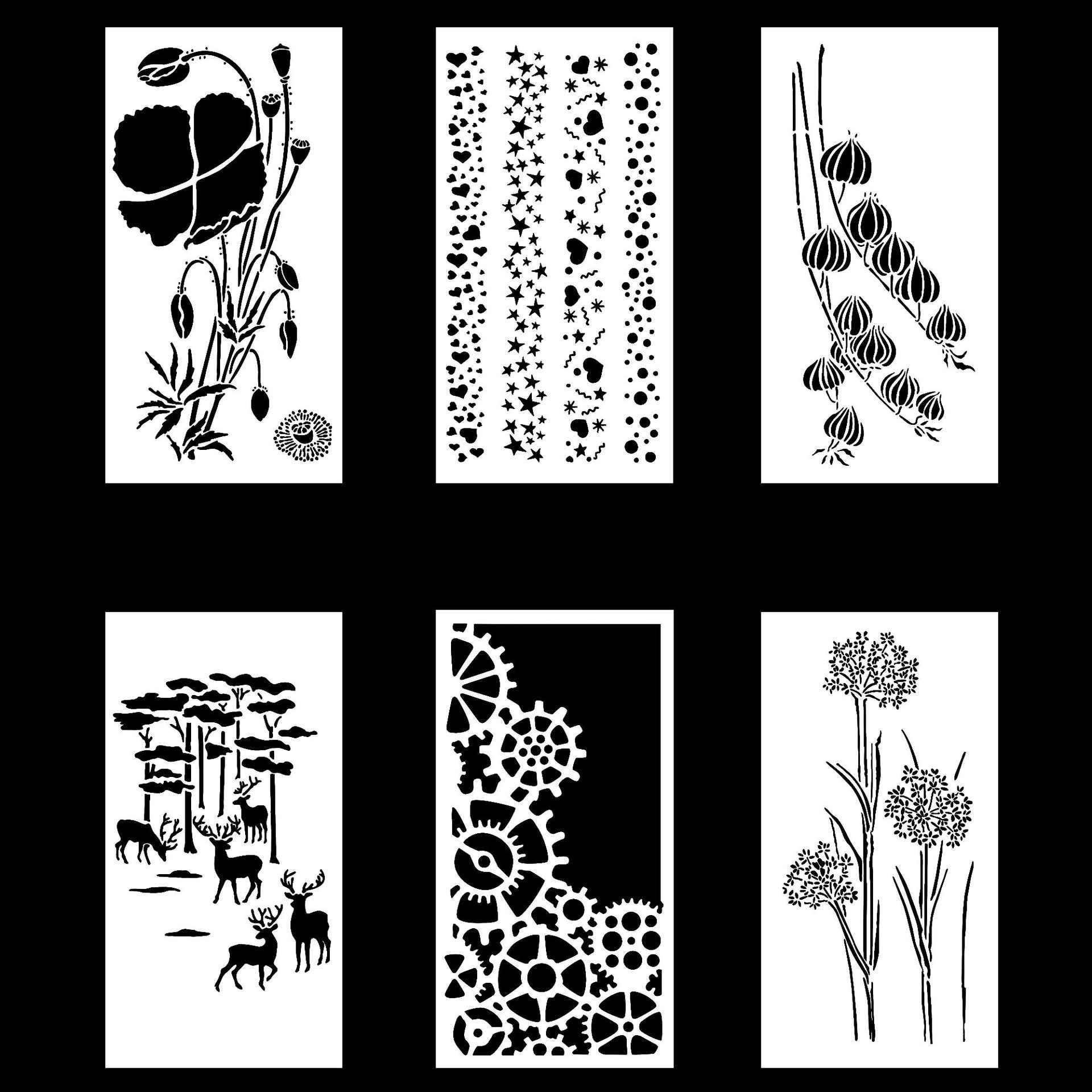 Раскраски Трафареты для аппликаций скачать и распечатать. | 1920x1920