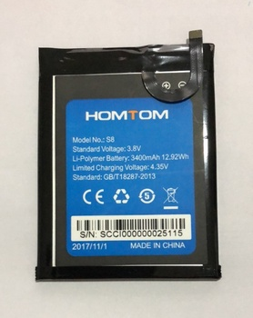 Mobile phone battery HOMTOM S8 3400mAh Original 5.7inch MTK6750 Accessories