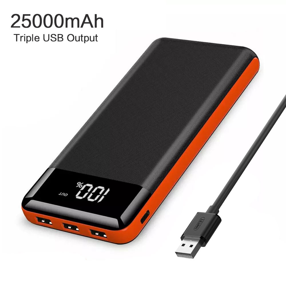Chargeur externe de batterie de capacité élevée de PowerBank de la puissance 25000mAh pour l'iphone X Xr Xs max 11 12 Pro Samsung Huawei P30 Mate30p