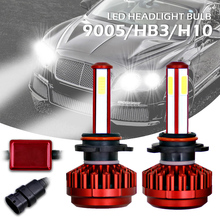 LED Headlight Kit 100W 9005 HB3 12000LM 6000K All-In-One High ALow Beam Bulbs Automotive LED Headlamps car accessories for Cars new generation all in one high beam error free 9005 hid lights for madza 3