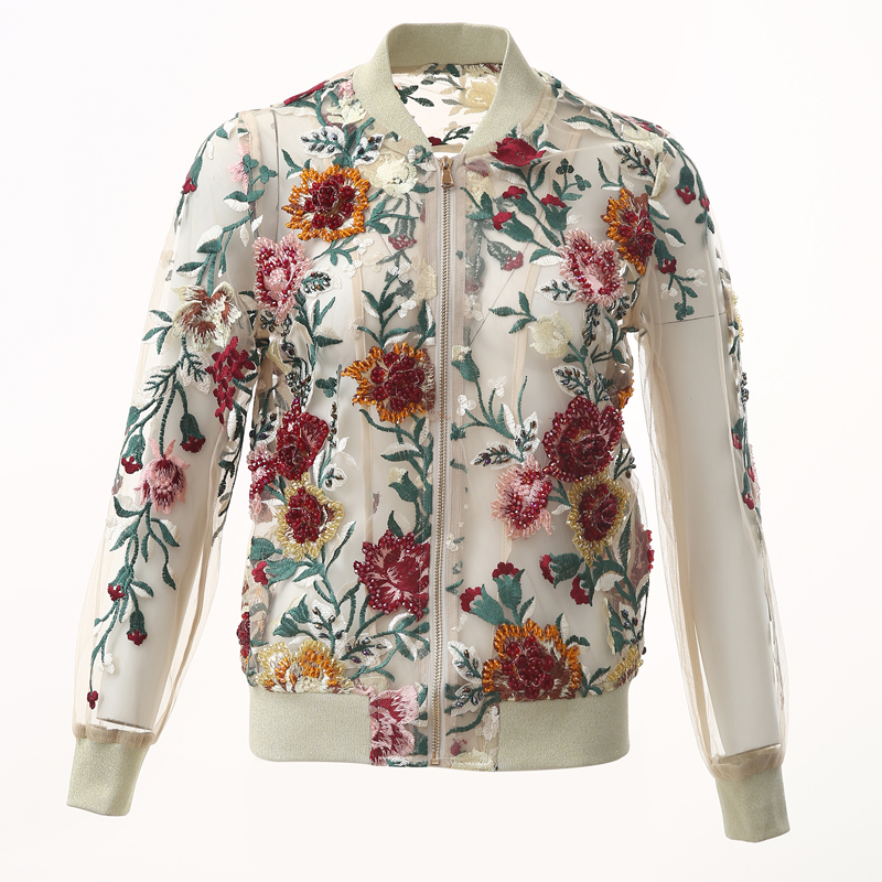 VERDEJULIAY Runway Women Jacket 2020 Autumn Winter Vintage Floral Luxury 3D Flower Appliques Crystal Elegant Embroidery Coat