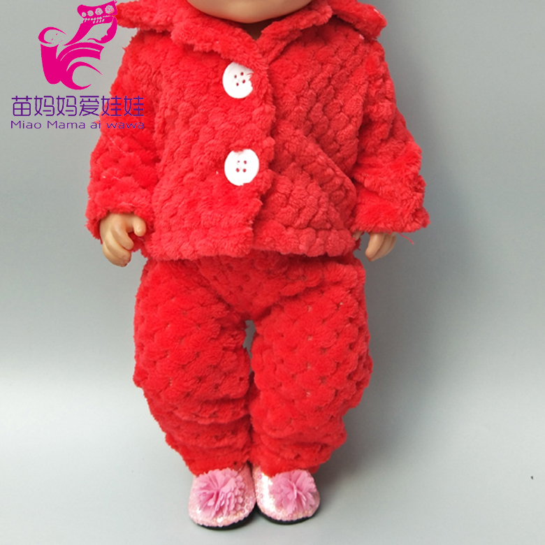Doll Coat For 43cm Born Baby Dolls Jacket Winter Pink Fur Clothes 18