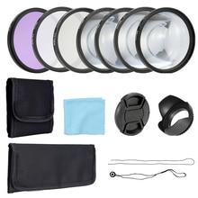 Andoer profesjonalny 58mm 52mm UV CPL FLD filtry soczewek zestaw i makro zestaw akcesoriów fotografia akcesoria