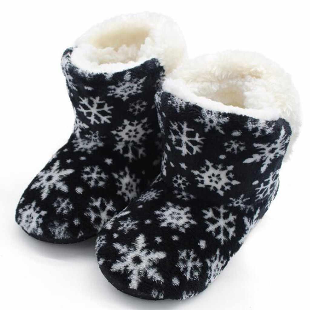 Kış kadın pamuk mercan yarım çizmeler kış düz polar ayakkabı ev önyükleme çiçek desenli ev botları yarım çizmeler kadınlar için 10.16