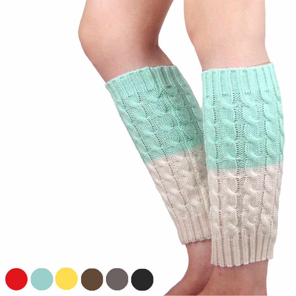 2019 yeni varış örme bacak isıtıcıları çorap bot kılıfı büküm iki tonlu çorap kış sıcak tutan çoraplar komik rahat yeni kış çorap #55