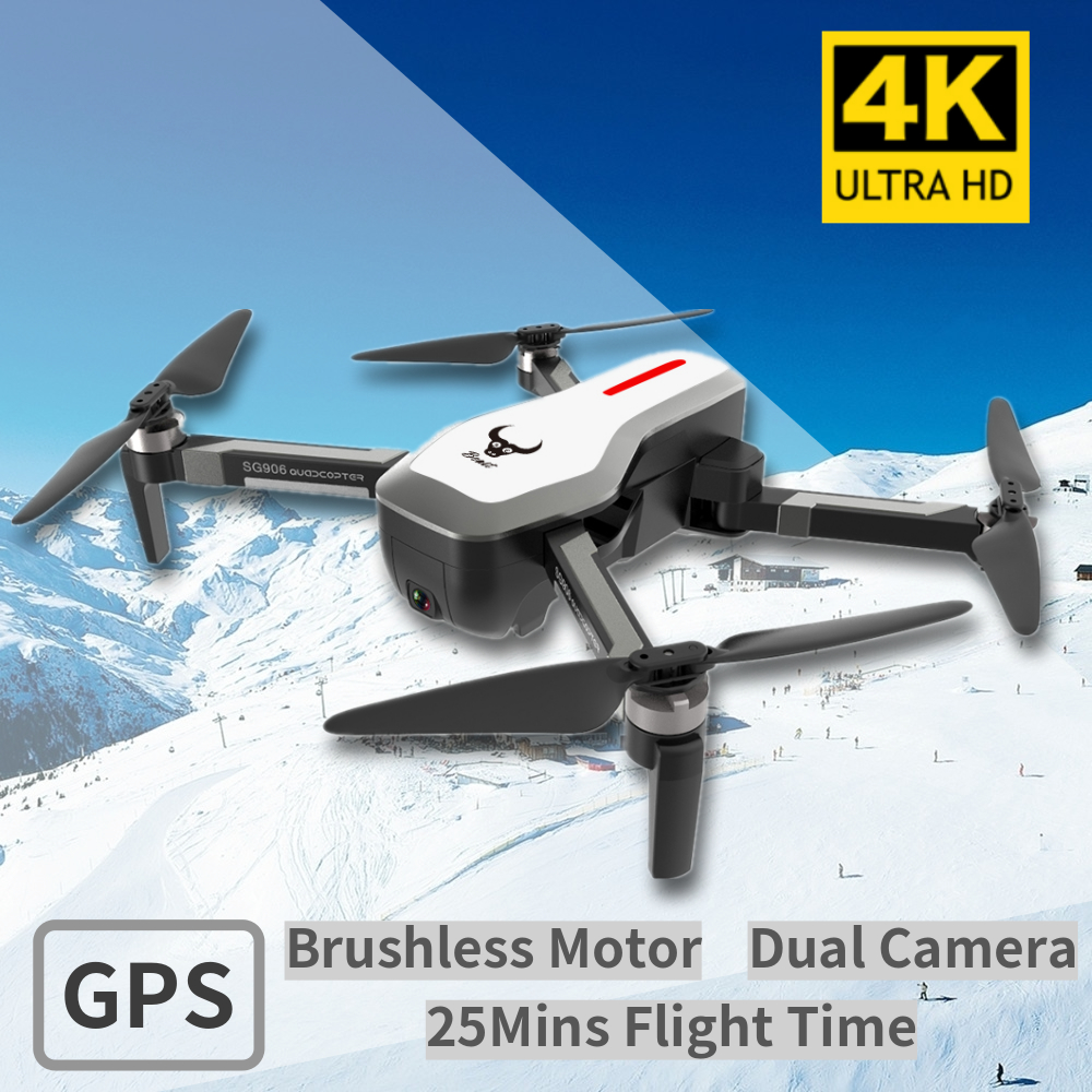 Foldable RC Drone 5G Wifi FPV GPS Drone With 4K Camera HD Brushless Motor 25Min Flight Time RC Quadcopter VS XS812 XS809HW SG106