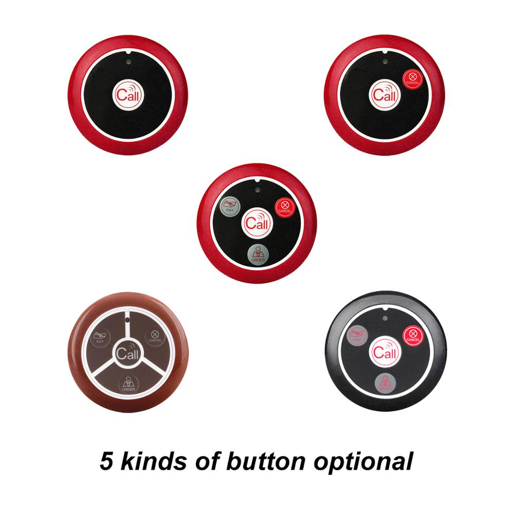 Image 2 - 20pcs T117 Call Transmitter Button + 3pcs Watch Receiver Restaurant Pager Wireless Waiter Calling System Restaurant Equipment-in Pagers from Computer & Office