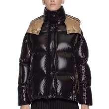 Новая зимняя Женская куртка средней длины, утепленная верхняя одежда с капюшоном, ватное пальто, тонкая парка, куртка, пальто