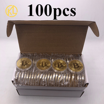 100pcs Silver/Gold Bitcoin/Ethereum/Litecoin/Dash/Ripple/Monero/EOS Coin Metal Physical  Ada Cardano Commemorative Crypto Coin 1