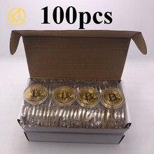 Pièces de monnaie commémoratives en métal, argent/or, Bitcoin/Ethereum/Litecoin/Dash/Ripple/Monero/EOS, Ada Cardano, 100 pièces