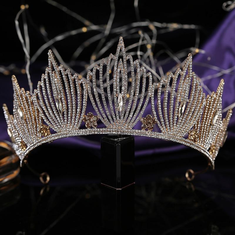 Tiaras and Crown HADIYANA Estilo Europeo Luxury Charm Wedding Hair Accessories Party Hair Clip Headband BCY8925 Corona Princesa