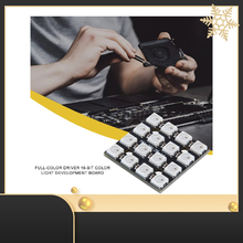 16-bit WS2812B Square Light Board RGB LED Full Color Driver Color Light Development Board Lamp Panel Module