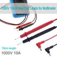 Multímetro Sonda de prueba lleva Pin para multímetro probador de sonda de plomo punta de aguja Cable de lápiz 1000V 10A Universal Digital