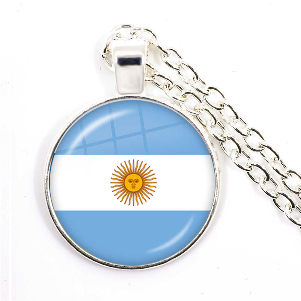 Bendera Nasional Kalung Korea Serbia Rusia, Slovenia, Argentina, Amerika Serikat, Turki, Spanyol dominica Liontin Perhiasan untuk Wanita Gadis