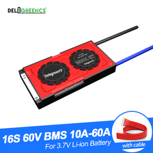 Deligreen 16S 3.7V 20A 30A 40A 50A 60A 60V BMS pour 67.2V batterie au Lithium Pack 18650 Lithion LiNCM li polymère Scooter