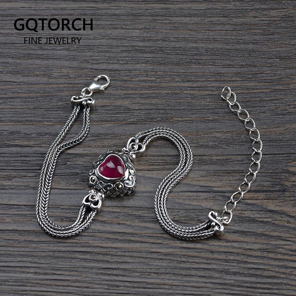 Dragon chaîne avec pierre rouge Bijoux Gothique