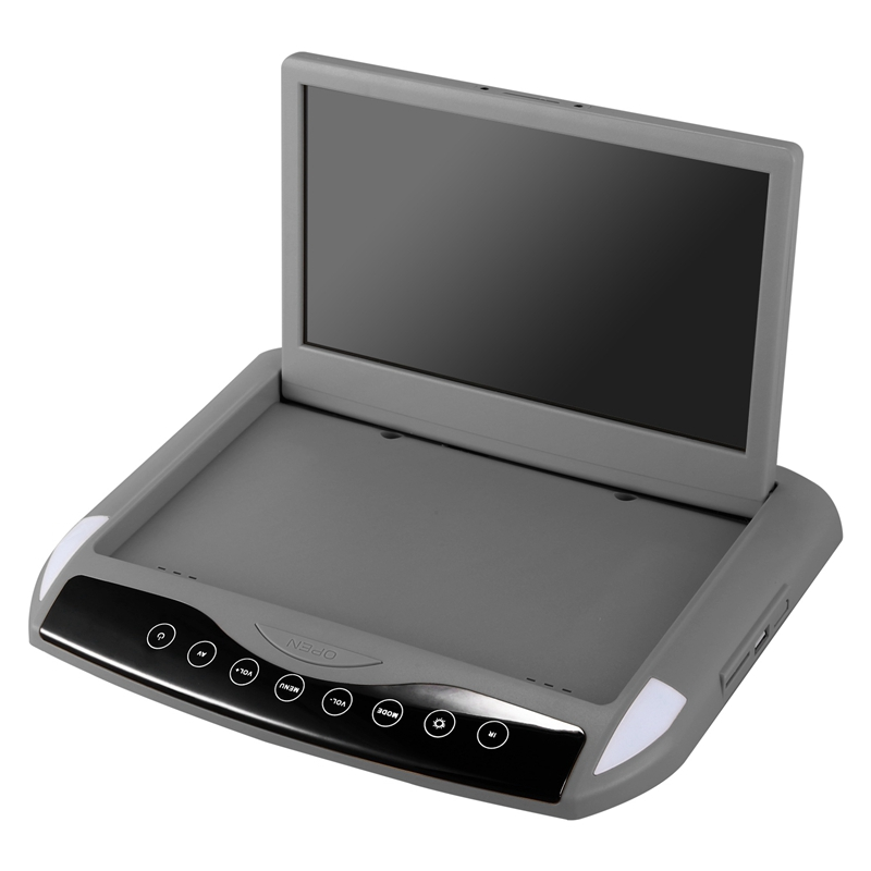 Ultra Thin 10.1 Inch Car Monitor Roof Ceiling Mount Flip Down TFT LCD Monitor Player USB SD MP5 Speaker Game Gray