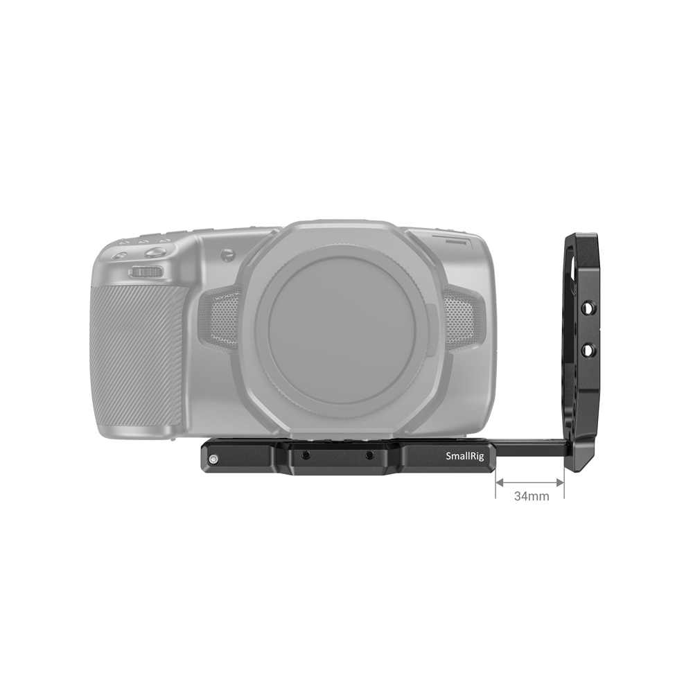 SmallRig L Halterung Platte für Blackmagic BMPCC 4K 6K Quick Release L-Förmige Platte Video Schießen Kamera montage Platte-2635