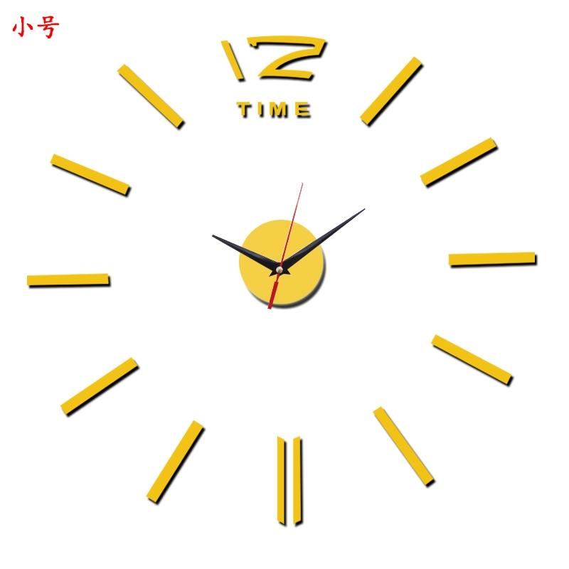 3D Wall Clock Acrylic Mirror Wall Stickers Modern DIY Wall Clocks Home Decor Living Room Quartz Needle reloj de pared 2020 NEW 38